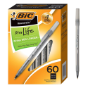 Deals List: BIC Round Stic Xtra Life Ballpoint Pen, Medium Point (1.0mm), Black, 60-Count