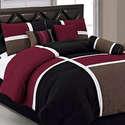Deals List: Chezmoi Collection 7-Piece Quilted Patchwork Comforter Set, Burgundy/Brown/Black, King