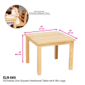 Deals List: ECR4Kids Deluxe Hardwood Activity Play Table for Kids, Solid Wood Childrens Table for Playroom/Daycare/Preschool, 24 Inch Square, Natural Finish