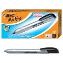 Deals List: BIC Marking Retractable Permanent Marker, Fine Point, Black, 12-Count