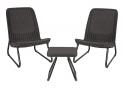 Deals List: Keter Rio 3 Pc All Weather Outdoor Patio Garden Conversation Chair & Table Set Furniture, Grey