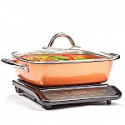 """Deals List: Copper Chef Induction Cooktop with 11"""" Casserole Pan"""