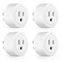 Deals List: 4-Pack Esicoo Wi-Fi Smart Plug Outlet Timer Mini Socket