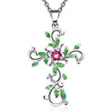 """Deals List: Angelady""""God We Trust Cross Pendant Necklace Jewelry Gift for Women,Crystal from Swarovski"""