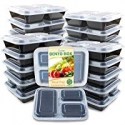 Deals List: Enther Meal Prep Containers 20 Pack 3 Compartment with Lids