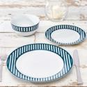 Deals List: Nautical Collection 12-Piece Porcelain Striped Dinnerware Set