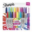 Deals List: Sharpie 1949557 Color Burst Permanent Markers, Fine Point, Assorted Colors, 24-Count