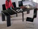 Deals List: VIVA HOME H-1003BG Audrey Dining Table, Black Gloss