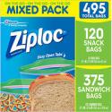 Deals List: 495-Count Ziploc Snack Bag and Sandwich Bag Mixed Pack