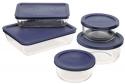Deals List: Pyrex Simply Store 10-Piece Glass Food Storage Set with Blue Lids
