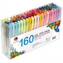 Deals List: Smart Color Art 160 Colors Gel Pens Set 80 Gel Pen with 80 Refills for Adult Coloring Books Drawing Painting Writing Doodling