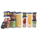 Deals List: [10-Piece Set] Royal Air-Tight Food Storage Container Set - Durable Plastic - BPA Free - Clear Plastic with Black Lids