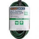 Deals List: WorkChoice 50ft SJTW 16/3 Green Outdoor Extension Cord