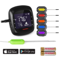 Deals List: Tenergy Solis Digital Meat Thermometer, APP Controlled Wireless Bluetooth Smart BBQ Thermometer w/ 6 Stainless Steel Probes, Large LCD Display, Carrying Case, Cooking Thermometer for Grill & Smoker