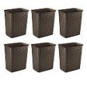 Deals List: 6-count Sterilite 3.4 Gal Weave Wastebasket