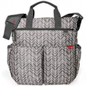 Deals List: Skip Hop Messenger Diaper Bag With Matching Changing Pad, Duo Signature, Grey Feather