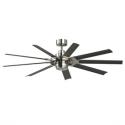 Deals List: Fanimation Studio Collection Slinger v2 72-in Brushed Nickel LED Indoor/Outdoor Downrod Mount Ceiling Fan