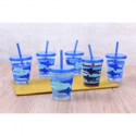 Deals List: 6-Pack Mainstays Shark Melamine Tumbler with Straw and Lid Set