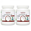 Deals List: Nutiva Organic, Cold-Pressed, Unrefined, Virgin Coconut Oil from Fresh, non-GMO, Sustainably Farmed Coconuts, 54 Fluid Ounces (Pack of 2)
