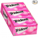 Deals List: Trident Sugar Free Bubble Gum - with Xylitol - 12 Packs (168 Pieces Total)