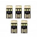 Deals List: 5Pcs USB LED Light Smart Touch Control Mini Flashlight