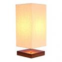 Deals List: SHINE HAI Retro Bedside Table Lamp Pro Minimalist Wood Lamp