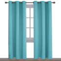 Deals List: NICETOWN Window Treatment Thermal Insulated Solid Grommet Blackout Curtains/Drapes for Bedroom (Turquoise=Light Blue, Set of 2 Panels,42 by 84 Inch)