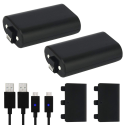 Deals List: Xbox One Battery Pack 2PCS x 1200 mAh Xbox One Rechargeable Battery and 5FT Micro USB Charging Cable with LED Indicator Light Kit for Xbox One/Xbox One X/Xbox One S Wireless Controllers