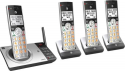 Deals List: AT&T - CL82407 DECT 6.0 Expandable Cordless Phone System with Digital Answering System and Smart Call Blocker - Silver/black