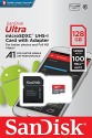 Deals List: Sandisk Ultra 128GB Micro SDXC UHS-I Card with Adapter -  100MB/s U1 A1 - SDSQUAR-128G-GN6MA