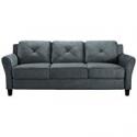 Deals List: Lifestyle Solutions Harrington Sofa in Grey, Dark Grey