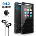 Deals List: MP3 Player Bluetooth, 8GB Portable Digital Music Player FM Radio/Recorder,HiFi Lossless Sound Quality,Music Direct Recording,Expandable up to 128GB TF Card Armband, Black
