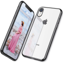 """Deals List: DTTO Lightning Series Clear Flexible Case with Metal Luster Edge for 2018 6.1"""" iPhone XR (Black)"""
