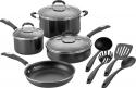 Deals List: Cuisinart - 11-Piece Cookware Set - Black/Silver, P57-11BK