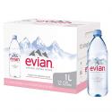 Deals List: Evian Natural Spring Water (One Case of 12 Individual Bottles, each bottle is 1 liter) Naturally Filtered Spring Water in Large Bottles