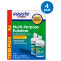 Deals List: (4 Pack) Equate Sterile Multi-Purpose Contact Solution , 12 Oz, 2 Pk