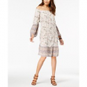 Deals List: Style & Co Petite Printed Off-The-Shoulder Dress
