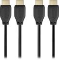 Deals List: Dynex™ - 6' 4K Ultra HD HDMI Cable (2-Pack) - Black, DX-SF120
