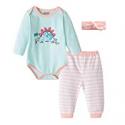 Deals List: Fiream Baby Girls Cotton Print Bodysuits Longsleeve Stripe