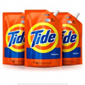 Deals List: Tide Liquid Laundry Detergent Smart Pouch, Original Scent, HE Turbo Clean, Pack of three 48 oz. pouches, 93 loads