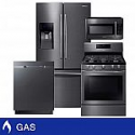 Deals List: Samsung 4-piece GAS 25CuFt 3-Door French Door Kitchen Package