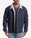 Deals List: Wrangler Men's Western Jean Jacket w/ Faux-Sherpa Lining