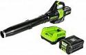 Deals List: Greenworks PRO 80V 145 MPH - 580 CFM Cordless Jet Blower, 2.5 AH Battery Included (Model BL80L2510)