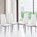 Deals List: FIRSTBUY 4pcs Modern High Back Dining Chair