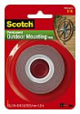 Deals List: Scotch Outdoor Mounting Tape, 1 in. x 60 in., Gray, 1 Roll/Pack