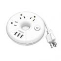 Deals List: NTONPOWER Travel Power Strip 3 Outlets 3 USB 15 inch
