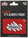 Deals List: $50 T.G.I. Friday's Gift Card