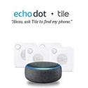 Deals List: 4-Pack Amazon Echo Dot (3nd Gen) Charcoal Fabric w/Tile Mate
