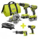 Deals List: Ryobi 18-Volt ONE+ Brushless Kit 3-Tool w/Saw & Impact Wrench