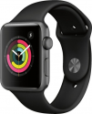 Deals List: Apple - Apple Watch Series 3 (GPS), 42mm Space Gray Aluminum Case with Black Sport Band - Space Gray Aluminum